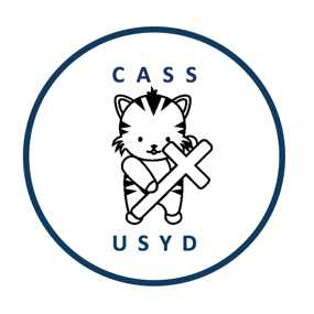 CASS USYD Logo with cute tiger holding cross