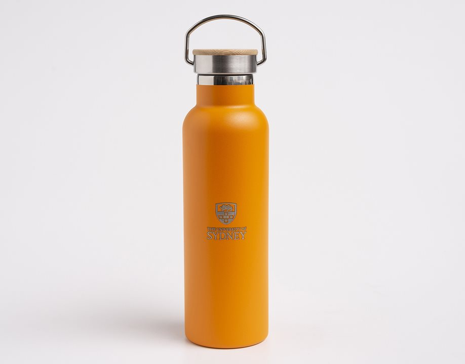 Metal Drink Bottle - Mandarin