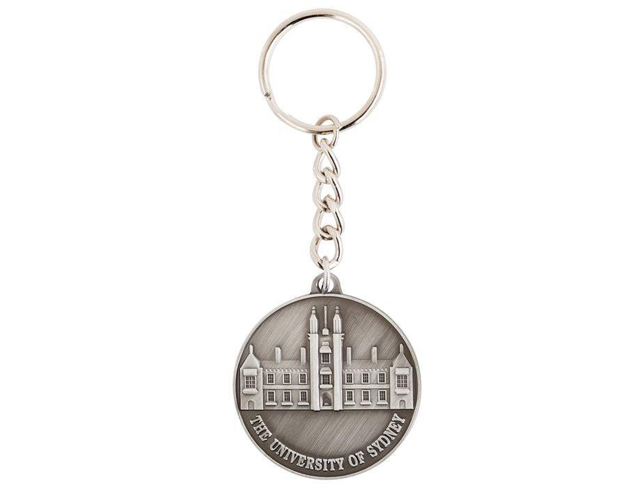 Circle Pewter Quad Keyring