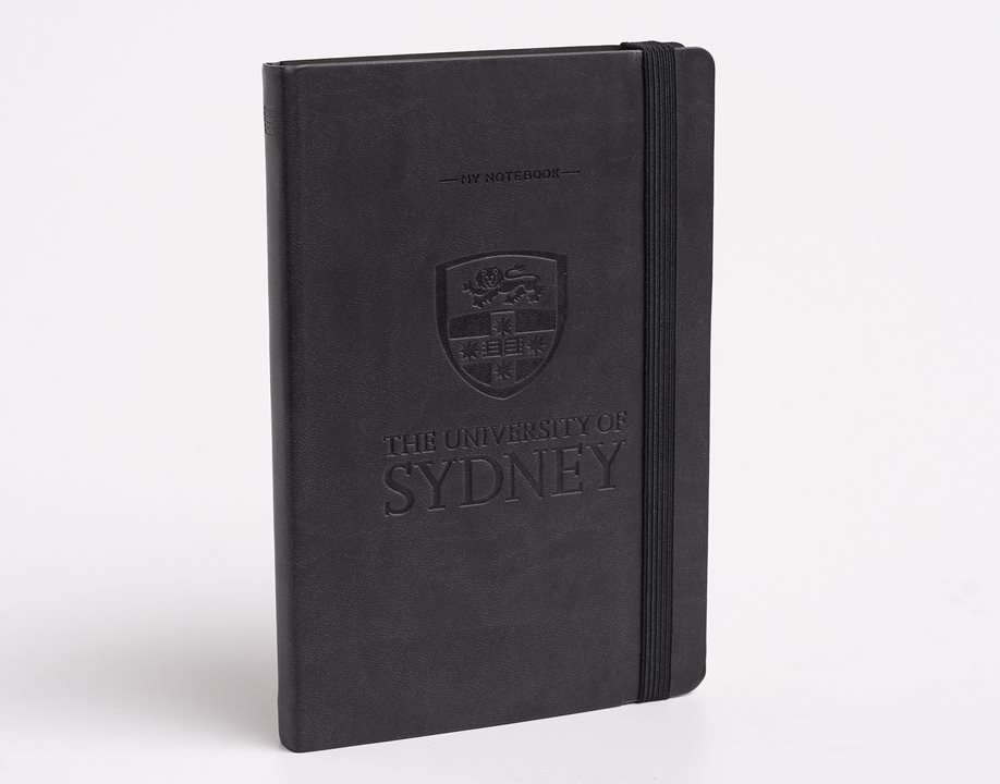 USyd Branded My Notebook Medium - Black