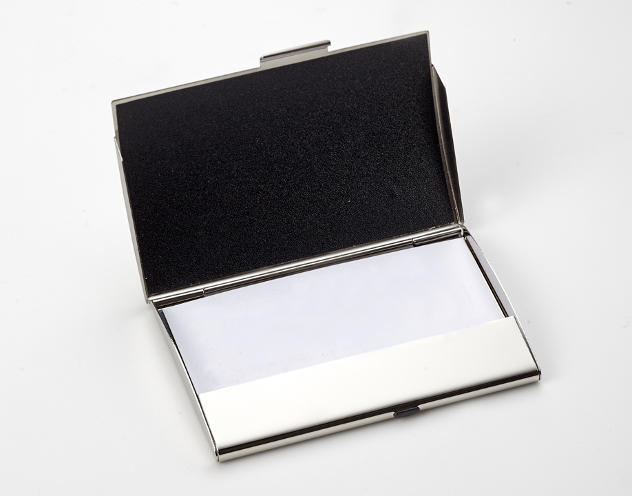 Silver Business Card Holder