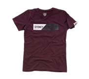 Rubber Tee - Maroon Marle - Ladies