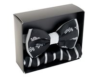 Silk Lion Bow Tie - Black