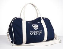 Sydney University Canvas Duffel Tote - Navy