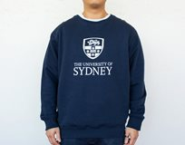 Crest Crewneck Sweater - Navy